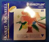 Caja metálica 48 lápices de colores acuarelables