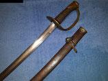 Französischer Mle 1822 Säbel der Leichten Kavallerie, eventuell für preußische Ulanen aptiert! Mannschaftsstück