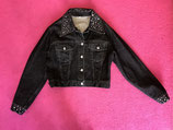 Vintage Moschino 'FOREVER' bedazzled denim jacket