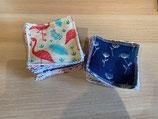 Serviettes / papiers ménage lavables taille 20 cm x 20 cm