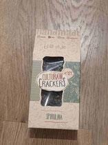Crackers spiruline