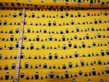 Eulen auf gelb