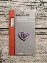 Applikation Herz lila