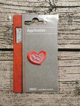 Applikation Herz rot