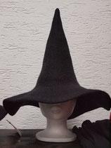 Mittelalter Hexen-Hut mit Krempe aus Filz  - L-CP66