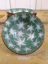 Schaaltje porselein groen 16x7cm