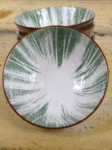 Schaaltje porselein groen 12x6cm