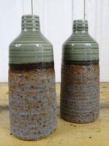Vaas porselein bruin/groen 26cm