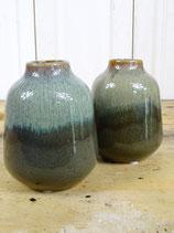Vaasje porcelein groen 13cm