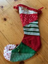 Santa Stiefel Sterne bunt