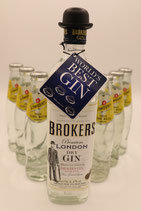 BROKERS DRY GIN + TONIC WATER SET