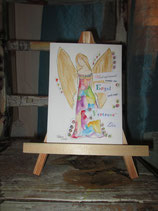 HAPPY painting  Engel,  Vertraue dir  (Original auf Papier)