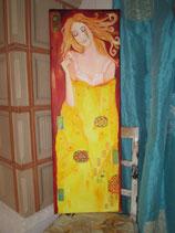 Titel: Göttin - Leise Engel in meinem Haar  (ein Original) 90 x350 cm