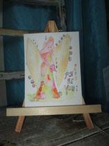 HAPPY painting  Engel,   Just be you  (Original auf Papier)