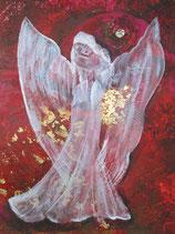 Göttin der der herzberührenden Liebe (rot)   (Leinwanddruck) 70 x 50 FREUDE- Angebot