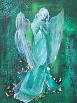 Göttin die aus der Stille Kraft spendet   (Leinwanddruck) FREUDE-ANGEBOT