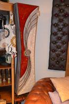 Alisa aus Capizscheiben Glas-Mosaik mit Bambusringen 150cm