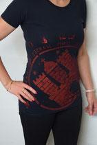 Damen T-Shirt schwarz/rot