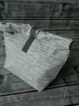 Lunchbag gross - Städte grau / mint
