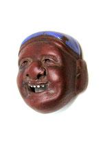 2342 Netsuke Katabori Daikoku Maske Ceramic