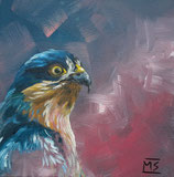 """Greifvogel"" abstrakt blau"