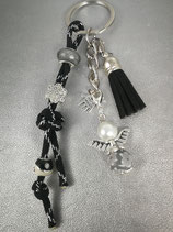 Schlüsselanhänger aus Paracord schwarz glitzer