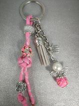 Schlüsselanhänger aus Paracord rosa glitzer
