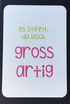 """Art. 19.004 / """"es Stimmt, du bisch grossartig"""""""