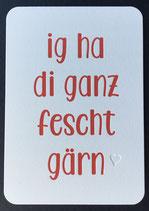 """Art. 19.002 / """" i ha di ganz fescht gärn"""""""