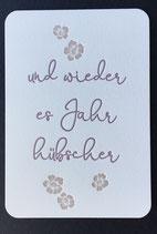 """Art. 19.003 / """"und wieder es Jahr hübscher"""""""