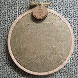 Cercle à broder - toile 12 fils - LIN CARAMEL