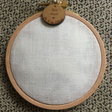 Cercle à broder - toile 12 fils - LIN BLANC CASSE
