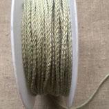 CORDE TRESSEE  EN LIN COLORIS LIN/VERT - 3 mm