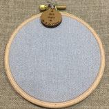 Cercle à broder - toile 12 fils - LIN gris