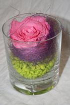 Rose im Glas (stabilisiert)