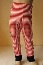 Leggings Ringel rot/weiß/marine