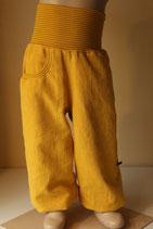 Leinenhose stone wash gelb/ gelbe Ringel