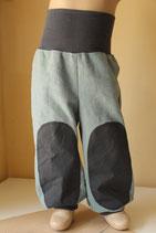 Leinenhose Outdoor stone wash schattengrün/ grau