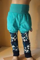 Leggings Magnolien blau