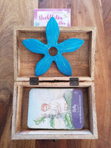 Kartenset Bachblüten - Botschaften mit Holzbox