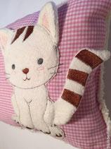 Teddyfellkissen mit Kätzchen & Namen