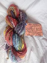 """Graduating Rainbow"" Novelty Handspun Art Yarn"