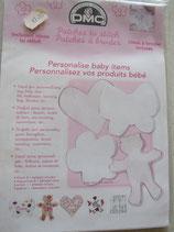 Losse borduur stramientjes voor de baby kamer roze