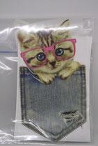 Transfert Kitten met bril