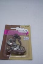 Tuinbroek gesp koper