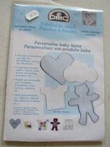Losse stramientjes voor de baby kamer blauw