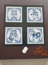 Borduur pakket Delfts blauw tegels (set van 4)