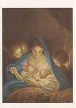 イタリア・ミラノ クリスマスカード 定型 カルロマラッタ 聖母子 c1601