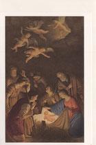 イタリア・ミラノ クリスマスカード 定型 ゲラルドデルノッティ 聖なる夜 ADORAZIONE DEI PASTORI C1604