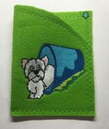 Art:Nr:0079 Hülle für mehrere Impfpässe ,West Highland White Terrier,B:13 cm L:18 cm